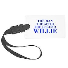 The Man Myth Legend WILLIE-bod blue Luggage Tag