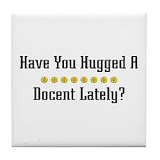 Hugged Docent Tile Coaster