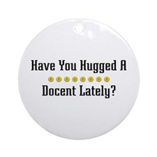 Hugged Docent Ornament (Round)