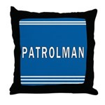 Patrolman Blues Throw Pillow