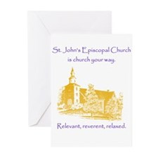 St. Johns is church your way. Greeting Cards