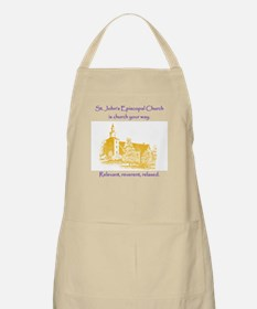 St. Johns is church your way. Apron