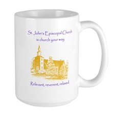 St. Johns is church your way. Mugs