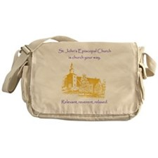 St. Johns is church your way. Messenger Bag