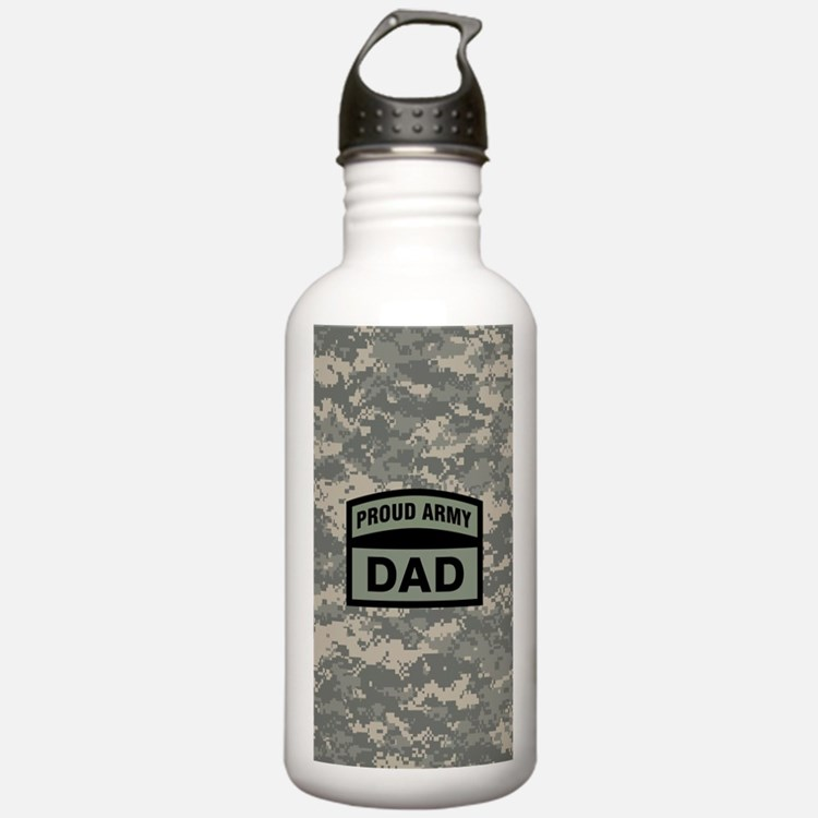 Proud Army Dad Camo Water Bottle