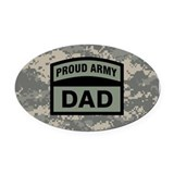 Army dad Oval Car Magnets