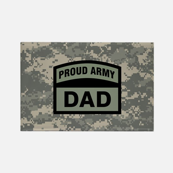 Proud Army Dad Camo Rectangle Magnet