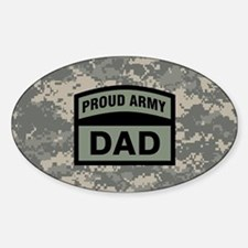 Proud Army Dad Camo Decal