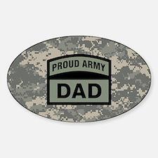 Proud Army Dad Camo Sticker (Oval)