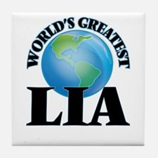 World's Greatest Lia Tile Coaster
