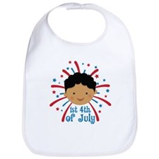Baby's 1st fireworks 4th of July Bib