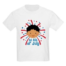 Baby's 1st fireworks 4th of Jul T-Shirt