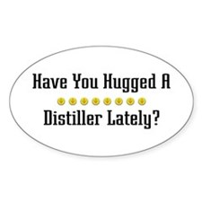 Hugged Distiller Oval Decal