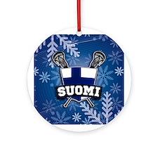 Finland Suomi Lacrosse Joulu Ornament (Round)