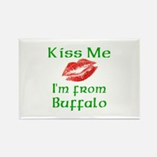 Kiss Me I'm from Buffalo Rectangle Magnet