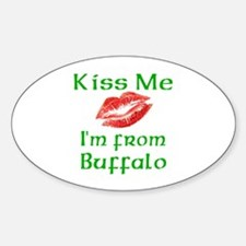 Kiss Me I'm from Buffalo Oval Decal
