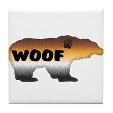 FURRY PRIDE BEAR/WOOF Tile Coaster