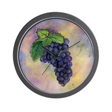 Red Wine Grapes Wall Clock