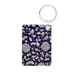 Abstract Whimsical Flowers Keychains