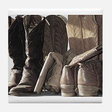 Cowboy Boots Tile Coaster