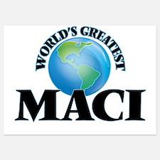 World's Greatest Maci Invitations