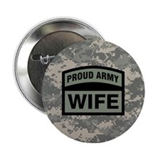 "Proud Army Wife Camo 2.25"" Button"
