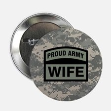 """Proud Army Wife Camo 2.25"""" Button"""