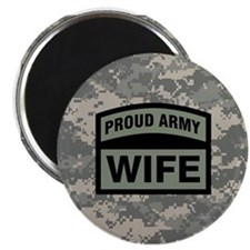 Proud Army Wife Camo Magnet
