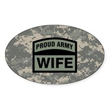 Proud Army Wife Camo Decal
