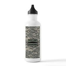 Proud Army Grandma Cam Water Bottle