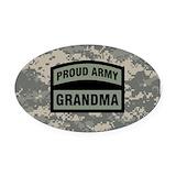 Army grandma Oval Car Magnets