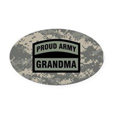 Proud Army Grandma Camo Oval Car Magnet