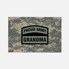Proud Army Grandma Camo Rectangle Magnet