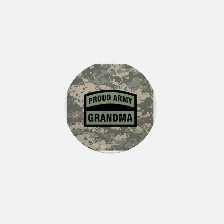 Proud Army Grandma Camo Mini Button