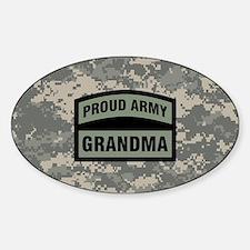 Proud Army Grandma Camo Sticker (Oval)