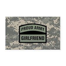 Proud Army Girlfriend Camo Rectangle Car Magnet