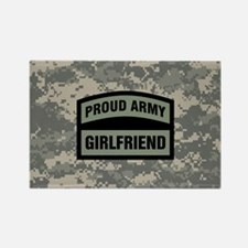Proud Army Girlfriend Camo Rectangle Magnet