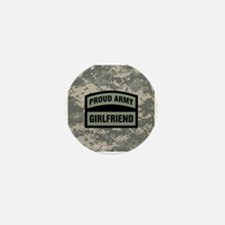 Proud Army Girlfriend Camo Mini Button
