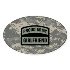 Proud Army Girlfriend Camo Decal