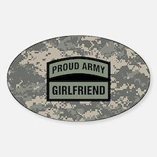 Proud Army Girlfriend Camo Sticker (Oval)