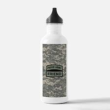 Proud Army Friend Camo Water Bottle