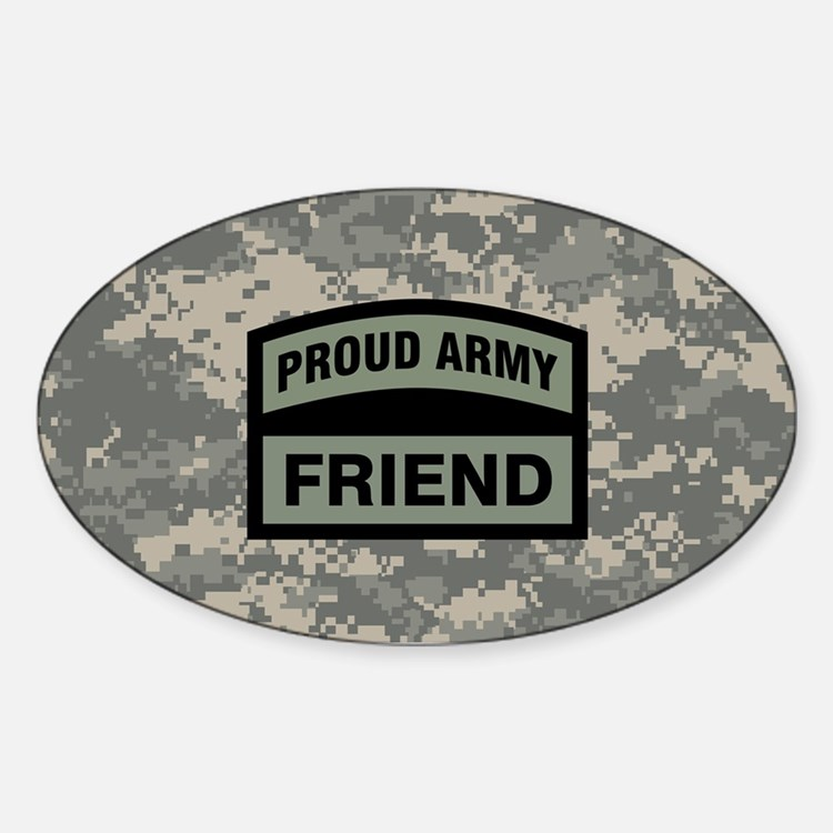 Proud Army Friend Camo Decal