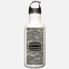 Proud Army Grandpa Cam Water Bottle