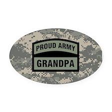 Proud Army Grandpa Camo Oval Car Magnet