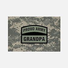Proud Army Grandpa Camo Rectangle Magnet