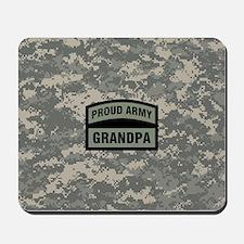Proud Army Grandpa Camo Mousepad