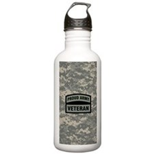 Proud Army Veteran Cam Water Bottle