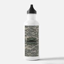 Proud Army Veteran Cam Water Bottle