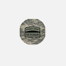 Proud Army Veteran Camo Mini Button