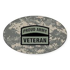 Proud Army Veteran Camo Decal